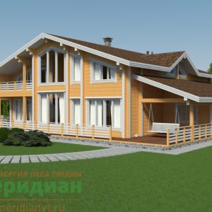 финский проект дома из клееного бруса