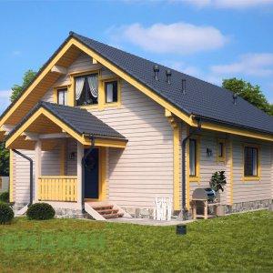 Современный дом из клееного бруса