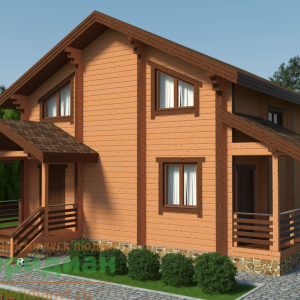 проект дома из клееного бруса 150м2