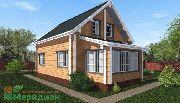 дом из клееного бруса 150м2