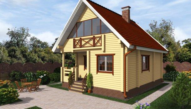 проект дома 100м2 из клееного бруса